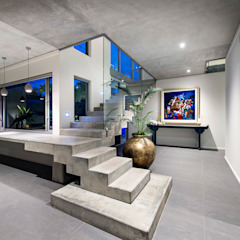 Designer Costal Home Industrial style corridor, hallway and stairs by D-Max Photography Industrial