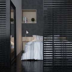 спальня в студии Спальня в стиле лофт от Tatiana Shishkina Лофт
