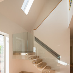 Broadmere Modern Corridor, Hallway and Staircase by Adrian James Architects Modern