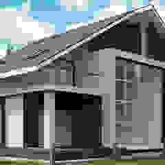 Уютный двухэтажный коттедж Дома в стиле минимализм от студия визуализации и дизайна интерьера '3dm2' Минимализм