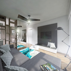 Modern Living Room by HUK atelier Modern