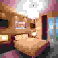 Dom z poddaszem Minimalistyczna sypialnia od Axentim Minimalistyczny