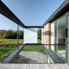 Scandinavische balkons, veranda's en terrassen van C.F. Møller Architects Scandinavisch