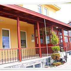 FARFUN AHŞAP DEKORASYON (VERANDALAR) Rustik Balkon, Veranda & Teras FARFUN AHŞAP DEKORASYON Rustik