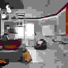 Salon industriel par Студия архитектуры и дизайна Дарьи Ельниковой Industriel