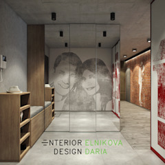 Couloir, entrée, escaliers industriels par Студия архитектуры и дизайна Дарьи Ельниковой Industriel