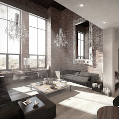 Authentic Lofts Eklektik Oturma Odası NATURAL LIGHT DESIGN STUDIO Eklektik