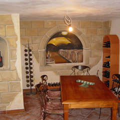 Eclectic style wine cellar by Peter Böhringer Art Design Eclectic