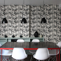 am alexandra magne Industrial style dining room
