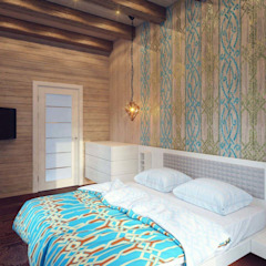 Minimalist bedroom by Студия дизайна интерьера 'Золотое сечение' Minimalist Wood Wood effect