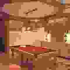 by Студия дизайна интерьера 'Золотое сечение' Mediterranean Wood Wood effect