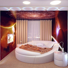 Minimalist bedroom by Студия дизайна интерьера 'Золотое сечение' Minimalist Plastic