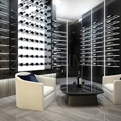 Eclectic style wine cellar by Anton Neumark Eclectic