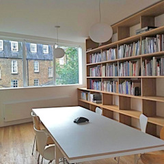 Library Room Caseyfierro Architects Study/officeCupboards & shelving