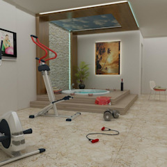 Mediterranean style gym by CANSEL BOZKURT interior architect Mediterranean