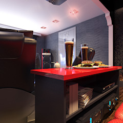 Salle multimédia minimaliste par Your royal design Minimaliste