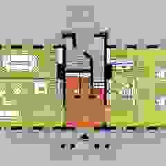 WNĘTRZA - wizualizacje Rustykalne domowe biuro i gabinet od ILLUMISTUDIO Rustykalny