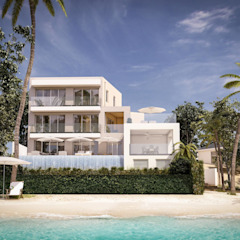 3d architectural visualisation project in Barbados by RedWhite Creative Agency Modern houses by REDWHITE CA Modern