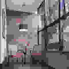 Blacher Arquitetura Modern corridor, hallway & stairs