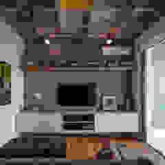 Aimbere Salas multimídia industriais por PM Arquitetura Industrial