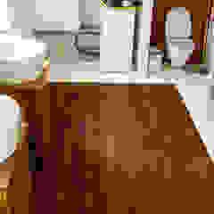 Deski podłogowe w łazience - różne realizacje Egzotyczne ściany i podłogi od Profi Parkiet II Egzotyczny