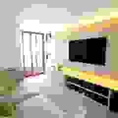 Morumbi Salas multimídia modernas por MeyerCortez arquitetura & design Moderno