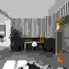Hélène de Tassigny Eclectic style study/office