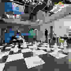 OPEN KNOWLEDGE OFFICE Sala multimediale moderna di Tommaso Giunchi Architect Moderno