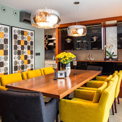 Eclectic style dining room by Viva Design - projektowanie wnętrz Eclectic