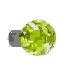 Bouton de meuble Lavallière vert anis sphérique par Les Verreries de Bréhat Moderne Verre
