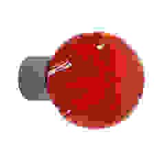 Bouton de meuble Lavallière rouge chili sphérique par Les Verreries de Bréhat Moderne Verre