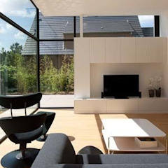 Salones de estilo moderno de hasa architecten bvba Moderno