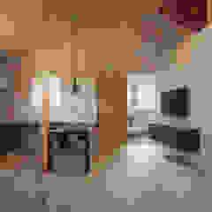 近江八幡の家(車椅子生活者のための平屋住宅) モダンデザインの リビング の タクタク/クニヤス建築設計 モダン