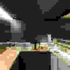 Basho Sushi House Espaços de restauração asiáticos por PAULO MERLINI ARCHITECTS Asiático