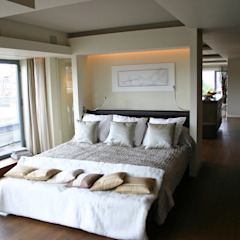Notting Hill Apartment - 3 Jonathan Clark Architects Modern style bedroom