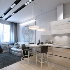 apartment of 35 sq.m. Industrial style kitchen by Entalcev Konstantin Industrial