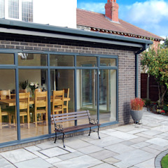 Extension to rear, Sun Room, Kitchen and Living Room Grant Erskine Architects Modern kitchen