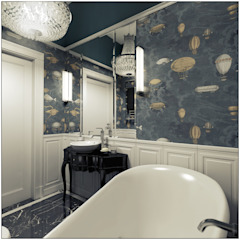 2k architektura Eclectic style bathroom