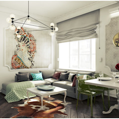 2k architektura Eclectic style living room