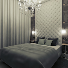2k architektura Eclectic style bedroom