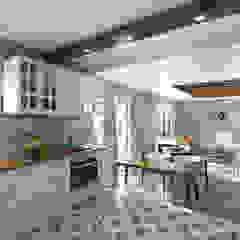 INTERIOR DESIGN FOR IMAR INSAAT Akdeniz Mutfak ROAS ARCHITECTURE 3D DESIGN AGENCY Akdeniz