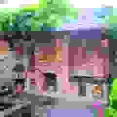 Kuchnia w ogrodzie Rustykalny balkon, taras i weranda od Kuchnia w Ogrodzie Rustykalny