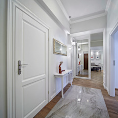 Pracownia projektowa artMOKO Eclectic style corridor, hallway & stairs