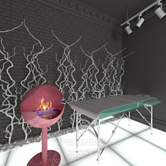 Oficinas y tiendas de estilo ecléctico de Студия дизайна интерьера Руслана и Марии Грин Ecléctico
