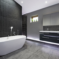 Rock Star Bathroom Salle de bain moderne par Lisa Melvin Design Moderne