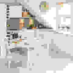 Mieszkanie na poddaszu 85m2 Skandynawska kuchnia od Meblościanka Studio Skandynawski