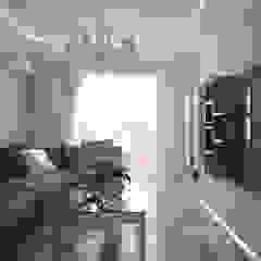 """Дизайн гостиной в стиле """"фьюжн"""" в ЖК """"Екатеринодар"""" (Краснодар) Гостиная в классическом стиле от Студия интерьерного дизайна happy.design Классический"""