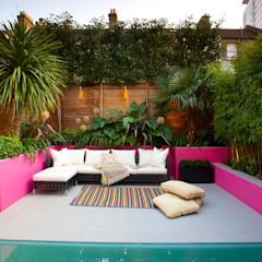 Battersea Basement & Full Refurbishment Mediterranean style gardens by Gullaksen Architects Mediterranean