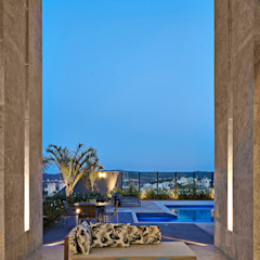 Residência LM Varandas, alpendres e terraços modernos por Gláucia Britto Moderno