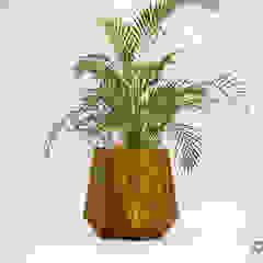 Kronen 65 Planter In Rust Effect Concrete Adam Christopher Design Garden Plant pots & vases Concrete Orange
